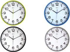 CEP Wanduhr, Quarzuhr, lautlos, silber weißes Ziffernblatt, lautloses Sweep-Uhrwerk, - 1 Stück (11679)