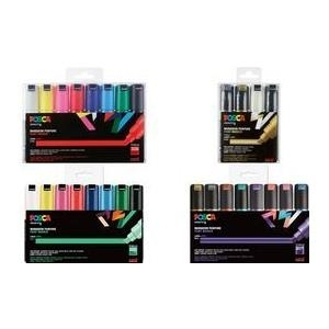 uni-ball Pigmentmarker POSCA PC-8K, 16er Etui, sortiert wasserfest, lichtbeständig, geruchfrei, Keilspitze, - 1 Stück (PC8K/16A ASS22) jetztbilligerkaufen