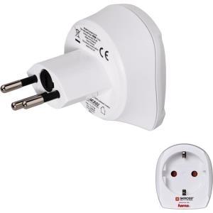 Hama Europe to Switzerland Travel Adapter Plug - Adapter für Power Connector - SEV 1011 (S) bis CEE 7/4 (R) - weiß - Liechtenstein, Schweiz (00128215)