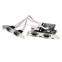 STARTECH SCHEDA PCIE A 4 PORTE SERIALI RS232 CON 16550 UART