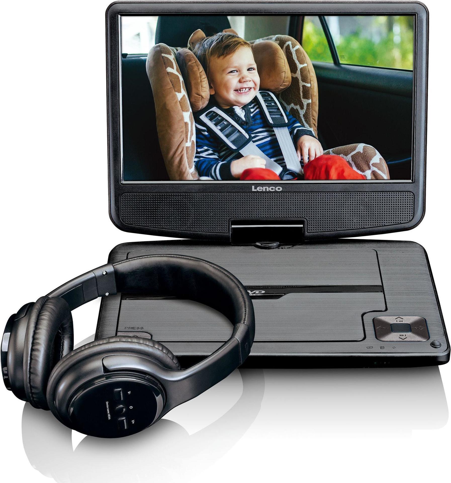 DVD Player, Blu Ray - Lenco DVP 947 Portable DVD player Tisch 22,90cm (9) 802 x 480Pixel Schwarz Tragbarer DVD Blu Ray Player (DCP947BK)  - Onlineshop JACOB Elektronik