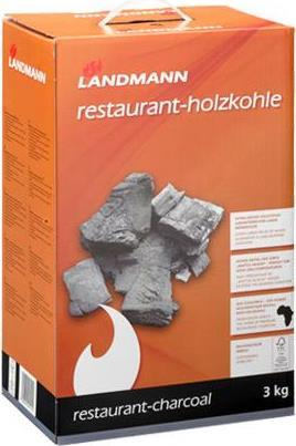 LANDMANN 09515 3000g Holzkohle für Barbecues/Grills (09515)