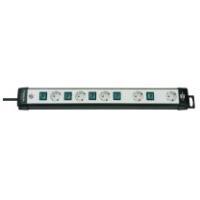 Brennenstuhl Premium-Line Technik 5-fach, 3 m Steckdosenleiste 5-fach schwarz/lichtgrau, 3m H05VV-F 3G1,5, einzeln schal