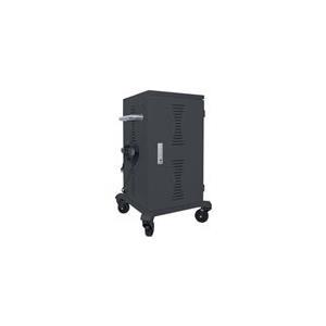 Intellinet Professional - Wagen (nur Laden) für 36 Tablets - verriegelbar - Stahl - Ausgang: Wechselstrom 120 V (406116)