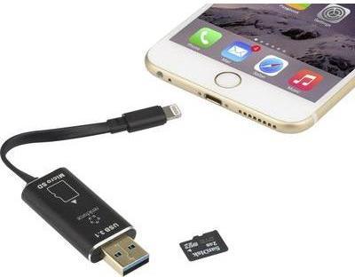 Renkforce Apple Lightning-Kartenleser Smartphon...