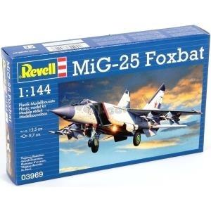 Revell MiG-25 Foxbat 1:144 Montagesatz Flugzeug...