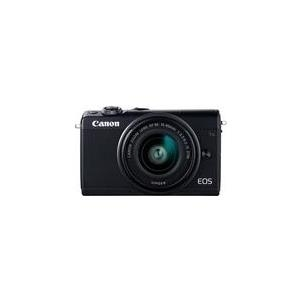 Systemkameras - Canon EOS M100 Digitalkamera spiegellos 24,2 MPix APS C 1080p 60 BpS 3x optischer Zoom EF M 15 45 mm Objektiv Wi Fi, NFC, Bluetooth Schwarz (2209C049)  - Onlineshop JACOB Elektronik
