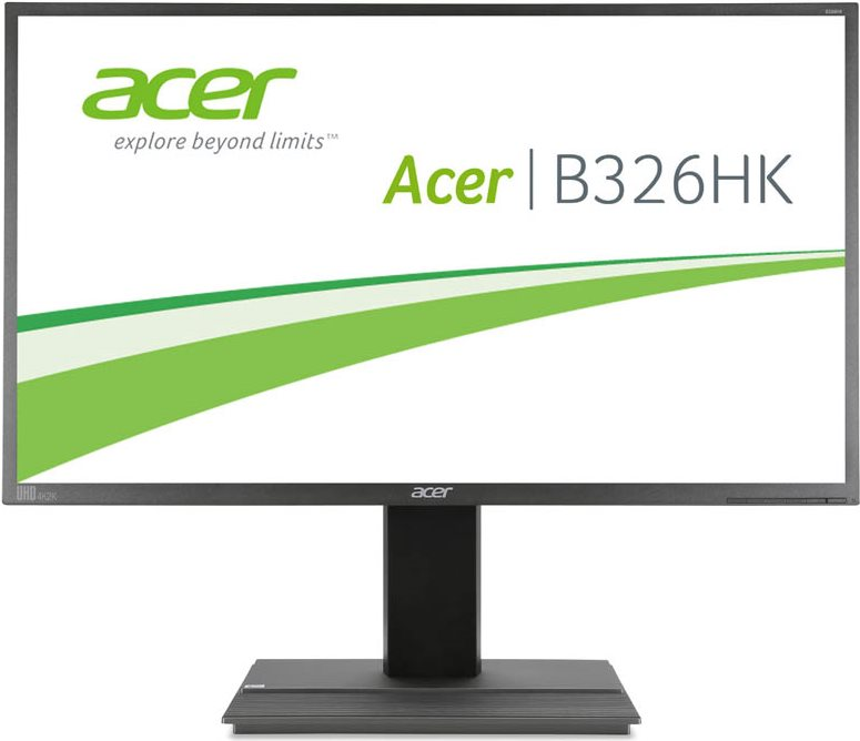 ACER B326HKymjdpphz 81,30cm (32) TFT LED 4K 3840 x 2160 350cd/m² 100M:1 DVI HDMI DP miniDP USB HUB höhenverstellbar Lautsprecher (UM.JB6EE.005)