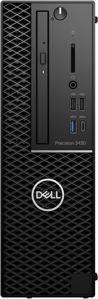 Dell Precision 3430 Small Form Factor - SFF - 1 x Xeon E-2124G / 3,4 GHz - RAM 16GB - SSD 256GB - DVD-Writer - UHD Graphics P630 - GigE - Win 10 Pro 64-Bit - vPro - Monitor: keiner - BTP - mit 1 Jahr Dell ProSupport (H8M88)