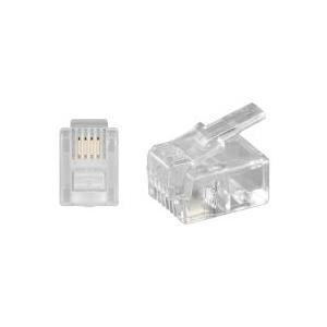 Wentronic Goobay - Telefonanschluss - RJ-11/RJ-14 (S) - ungeschirmt - durchsichtig (50250)