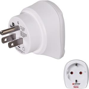Hama Europe to US Travel Adapter Plug - Adapter für Power Connector - Typ B (S) bis CEE 7/4 (R) - weiß (00128214)