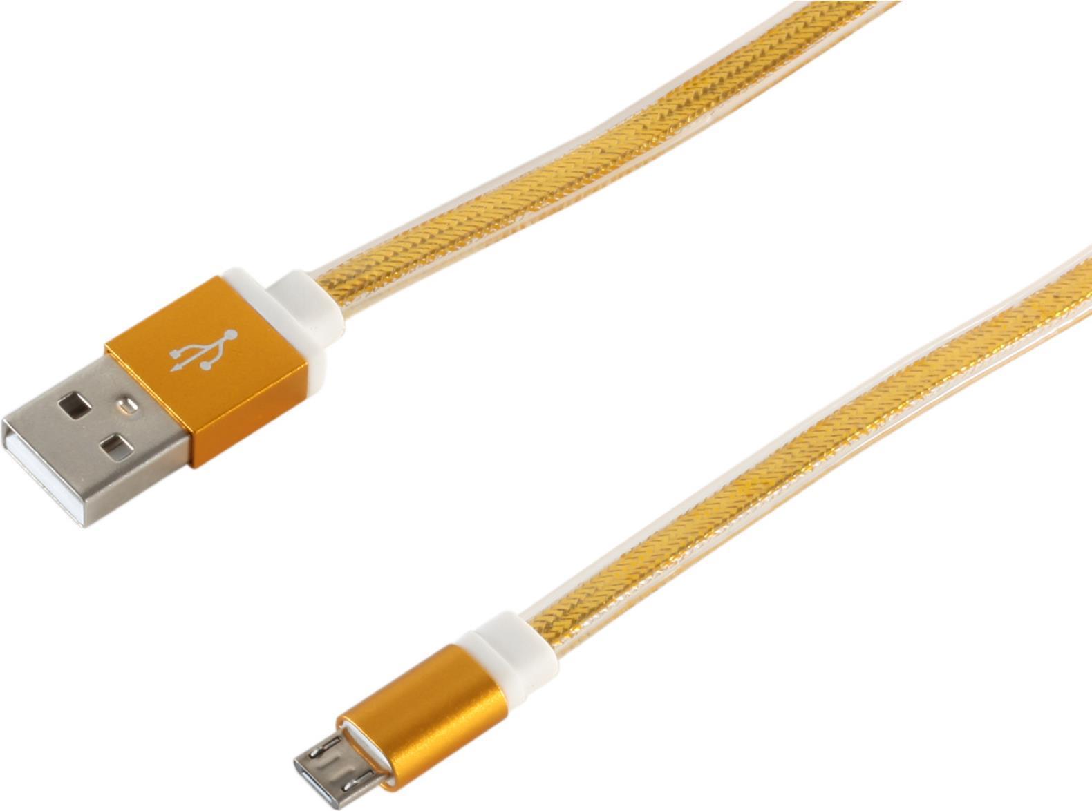 S-Conn 14-50046 0.9m USB A Lightning Gold Handy...