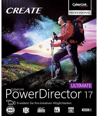 Cyberlink Vollversion, 1 Lizenz Windows Videobearbeitung (PowerDirector 17 Ultimate)