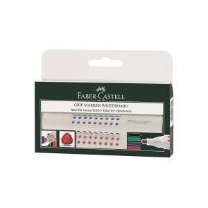 Faber-Castell 4 FABER-CASTELL Whiteboard-Marker GRIP 1586 farbsortiert jetztbilligerkaufen