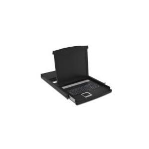 Digitus DS-72013GE - KVM-Konsole mit KVM-Switch 16 Anschlüsse USB 48,3 cm (19) Rack einbaufähig 1280 x 1024 1000:1 VGA RAL 9005 1U (DS-72013GE) - broschei