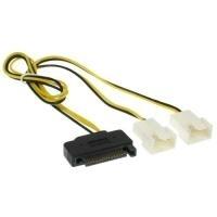 INLINE Y-cable - Netzteil für Lüfter - 4-polig PWM (M) bis SATA Leistung (W) - 30 cm