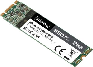 Intenso - SSD - 120 GB - intern - M.2 2280 - SATA 6Gb/s (3833430)
