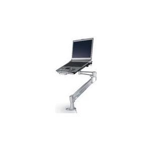 """NewStar - Befestigungskit (Tablett, Gelenkarm, Spannbefestigung für Tisch, Tischplattenbohrung) für Notebook - Silber - Bildschirmgröße: 25,4 - 55,9 cm (10"""" - 55,90cm (22"""")) (NOTEBOOK-D200)"""