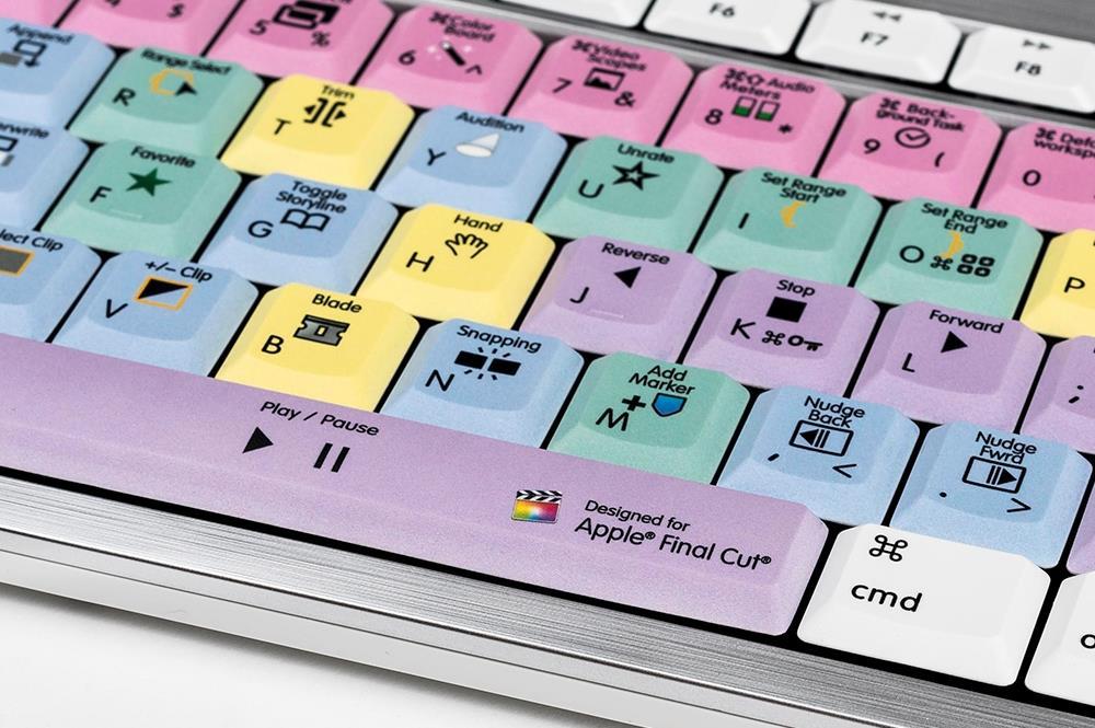 Logickeyboard LKB-FCPX10-CWMU-DE USB QWERTZ Deutsch Mehrfarben Tastatur (LKB-FCPX10-CWMU-DE)