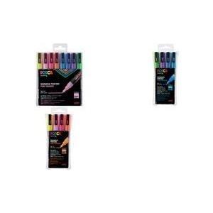 uni-ball Pigmentmarker POSCA PC-3ML, 8er Box, Glitter wasserfest, lichtbeständig, geruchsfrei, Rundspitze, - 3 Stück (PC-3ML/8A ASS26) jetztbilligerkaufen