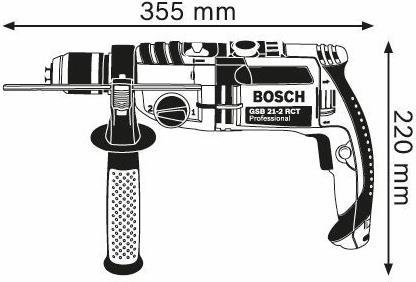 Bosch GSB 21-2 RCT Professional 900RPM Schlüsse...
