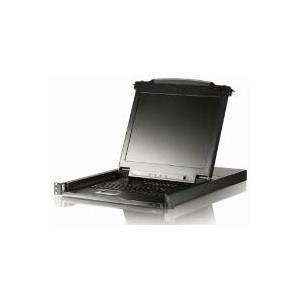 ATEN Arbeitskonsole 43 cm (17) mit integriertem KVM-Switch, PS/2 und USB - zum Einbau im 48,30cm (19) Schrank - FR Tastaturlayout (CL5708M (FR))