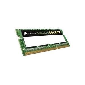 Corsair Value Select - DDR3L - 4 GB - SO-DIMM, 204-polig - 1333 MHz / PC3-10600 - CL9 - 1.35 / 1.5 V - ungepuffert - nicht-ECC (CMSO4GX3M1C1333C9)