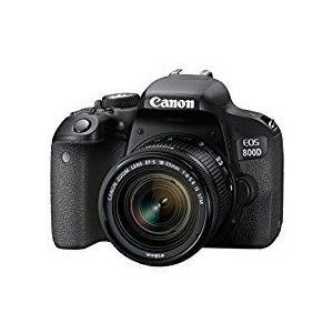 Spiegelreflexkameras - Canon EOS 800D Digitalkamera SLR 24.2 MPix APS C 1080p 60 BpS 3x optischer Zoom EF S 18 55mm IS STM Objektiv Wi Fi, NFC, Bluetooth  - Onlineshop JACOB Elektronik
