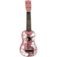 MSA Musikinstrumente Ukulele UK 35 Rosa, Weiß (...