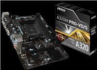 MSI A320M PRO-VD/S V2 - Motherboard - micro ATX - Socket AM4 - AMD A320 - USB 3.1 Gen 1 - Gigabit LAN - Onboard-Grafik (CPU erforderlich) - HD Audio (8-Kanal)