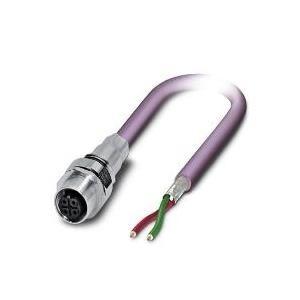 SACCEC-M12FSB-2CON-M16/2,0-910 - Bussystem-Einbausteckverbinder Pho - broschei