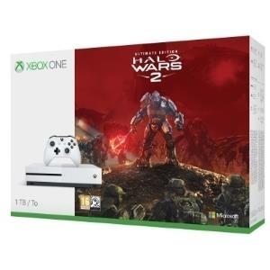 Spielkonsolen - Microsoft Xbox One S Halo Wars 2 Bundle Spielkonsole 4K HDR 1 TB HDD Roboter weiß  - Onlineshop JACOB Elektronik