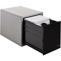 Hama CD Box Magic Touch Silber, Schwarz 80 CDs/DVDs (B x H x T) 183 x 227 x 179 mm Hama (48318)