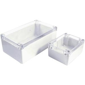 Axxatronic Installations-Gehäuse 200 x 120 75 Polycarbonat Weiß, Klar 7200-269C 1 St. - broschei