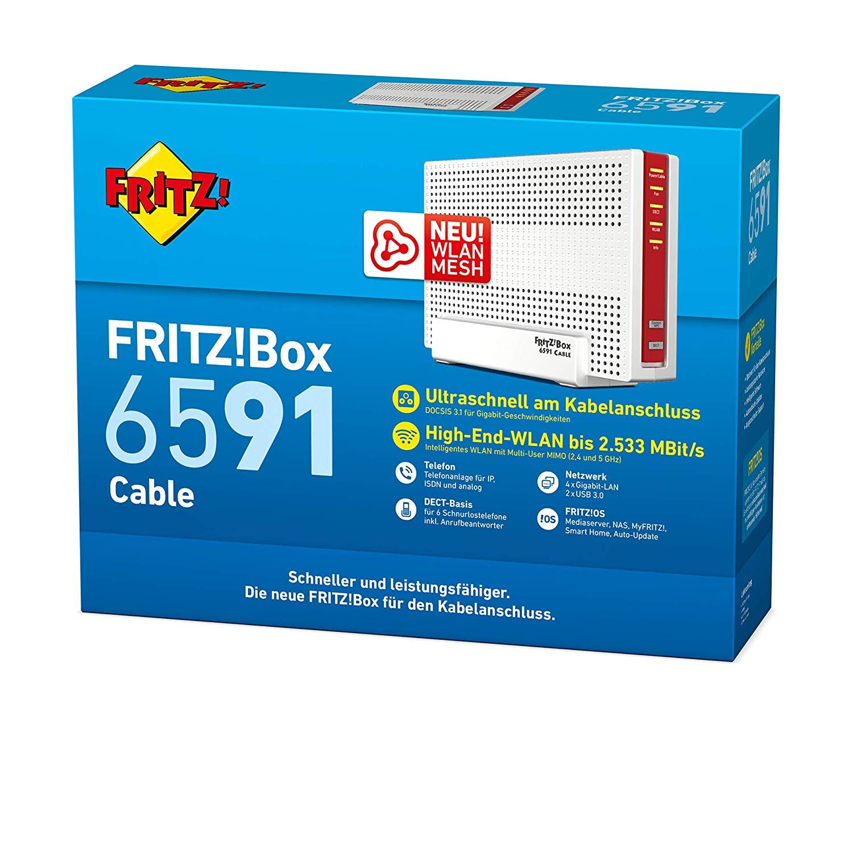 AVM FritzBox 20 Cable WLAN AC + N Router DOCSIS 20.20 Kabelmodem ...