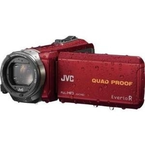 Camcorder - JVC EverioR GZ R435REU Camcorder 1080i 50 BpS 2.5 MPix 40x optischer Zoom Konica Minolta Flash 4 GB Flash Karte Unterwasser bis zu 5 m Rot (GZ R435REU)  - Onlineshop JACOB Elektronik