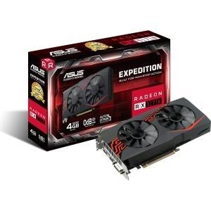 ASUS EX-RX570-4G - Grafikkarten - Radeon RX 570 - 4GB GDDR5 - PCIe 3.0 x16 - DVI, HDMI, DisplayPort (90YV0AI1-M0NA00)