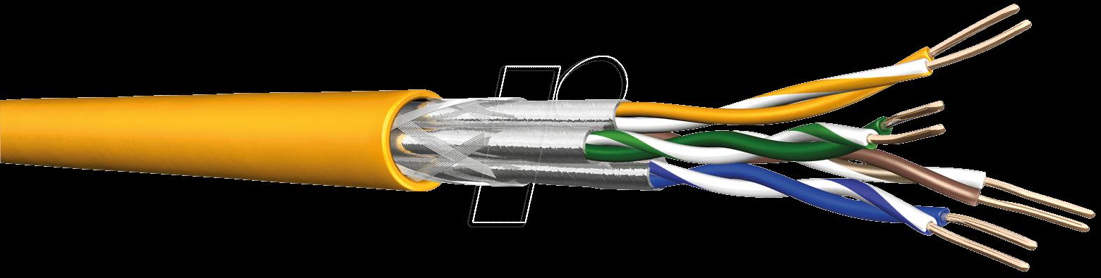 4X2 AWG22-50D -Cat.7a Rohkabel Verlegekabel S/FTP PiMF 50m - Verlegekabel - Netzwerk (60013289)