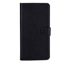 xqisit Slim Wallet Case - Flip-Hülle für Mobiltelefon - Kunstleder, Polycarbonat - Schwarz - für Apple iPhone 6 Plus (18076)