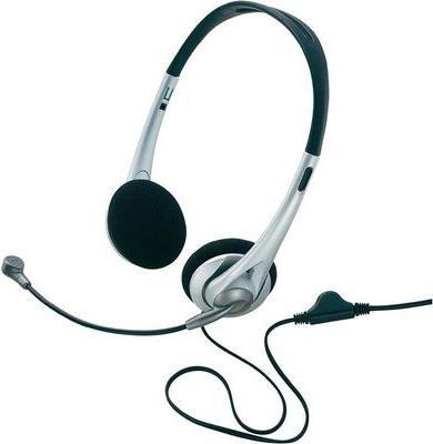 Basetech PC-Headset 3.5 mm Klinke schnurgebunden, Stereo TW-218 On Ear Schwarz/Silber (BT-1603953)