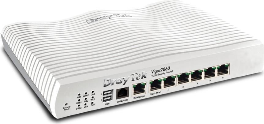Draytek Vigor 2860L - Router - DSL/WWAN - Switc...
