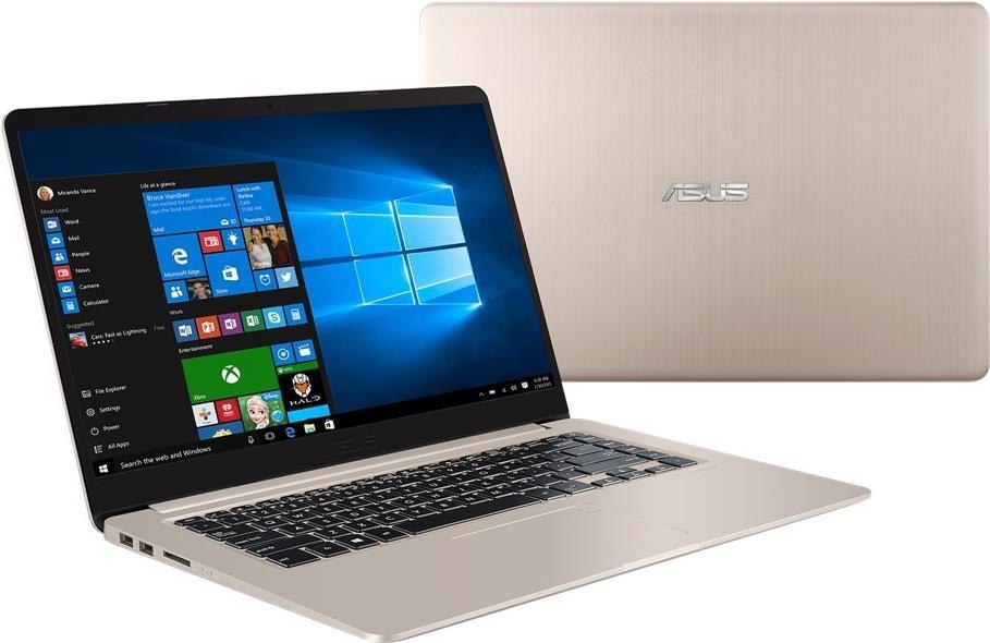 Notebooks, Laptops - ASUS VivoBook S15 S510UF BQ193T 1.80GHz i7 8550U Intel® Core i7 der achten Generation 15.6 1920 x 1080Pixel Gold Notebook (90NB0IK1 M03920)  - Onlineshop JACOB Elektronik