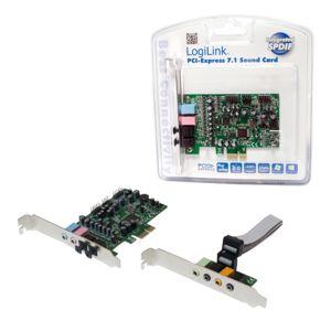Soundkarten - Logilink Soundkarte 24 Bit 192 kHz 92 dB S N 7.1 PCIe CM8828 CM9882A (PC0076)  - Onlineshop JACOB Elektronik