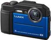 Action, Outdoorkameras - Panasonic Lumix DC FT7 Digitalkamera Kompaktkamera 20.4 MPix 4K 30 BpS 4.6x optischer Zoom Wi Fi Unterwasser bis zu 31 m Blau  - Onlineshop JACOB Elektronik