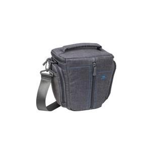 Riva Case 7501 - Schultertasche für Digitalkamera mit Objektiven Polyester, Leinwand Grau (6901820075015) jetztbilligerkaufen