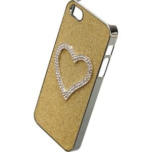 IPHORIA FUN Back Cover Diamond Heart für Apple iPhone 5/ 5S/ SE Gold (14387) - broschei
