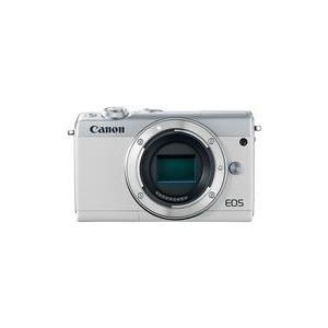 Systemkameras - Canon EOS M100 Digitalkamera spiegellos 24,2 MPix APS C 1080p 60 BpS nur Gehäuse Wi Fi, NFC, Bluetooth weiß (2210C002)  - Onlineshop JACOB Elektronik