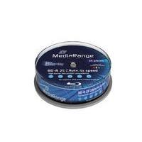 MediaRange Inkjet Fullsurface-Printable - 25 x BD-R - 25GB 4x - Speichermedium (MR504)