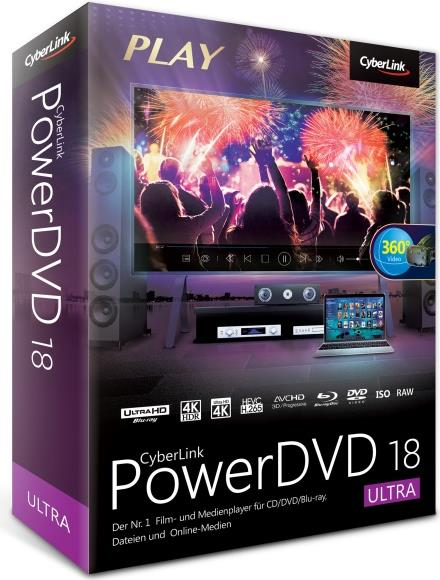 Cyberlink PowerDVD Ultra - (v. 18) - Box-Pack - 1 Benutzer - DVD - Win - Deutsch (DVD-GI00-RPU0-01)