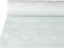 PAPSTAR Damast-Tischtuch, Rolle, 10 x 1 m, weiß Papiertischtuch mit Damastprägung, Stärke: 40 g/qm - 1 Stück (12540)